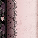 Background with lace fringe Stock Photo