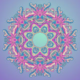 Background with lace hand drawn colorful ornament Royalty Free Stock Photo
