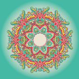 Background with lace hand drawn colorful ornament Royalty Free Stock Photos