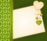 Background with lace and hearts Royalty Free Stock Photography