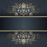 Background with lace ornament and place for text Royalty Free Stock Photography