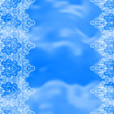 Background with lace ornament Stock Photography