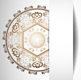 Background with lace ornament. Vector illustration of Background with lace ornament Royalty Free Stock Images