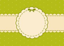 Background with lace ornaments and bow Stock Images