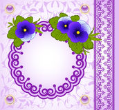 Background with lace ornaments and flowers. Royalty Free Stock Photos