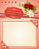 background with lace ornaments and flowers. Royalty Free Stock Images