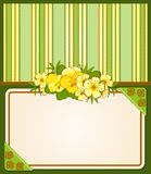 Background with lace ornaments and flowers Stock Photos