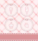 Background with a lace and sweetness. Beautiful background with a lace and sweetness Royalty Free Stock Image