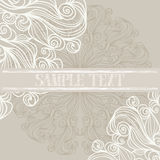 Background with lacy patterns. Abstract background with lacy patterns, soft colors and banner with space for text Royalty Free Stock Photos
