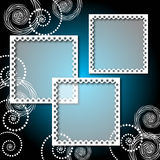 Background with lacy photo frame Royalty Free Stock Photos