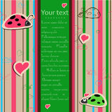 Background with ladybirds in love. Royalty Free Stock Photography