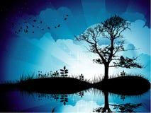 Background lake illustration Stock Photography