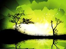 Background lake illustration Stock Image