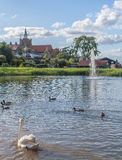 Background lake park town Royalty Free Stock Images