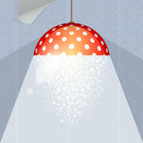 Background with lamp and wallpaper Royalty Free Stock Photo