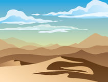 Background of landscape with desert. A high quality background of landscape with desert. Flat style Stock Photography