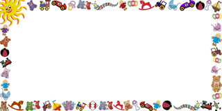 Background with toys border Royalty Free Stock Photo