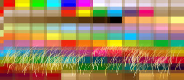 Background landscape heather graphic pixel colorful Stock Photography