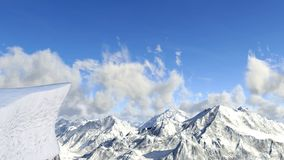 Inspiration Point, Standing Cliff, Background. Background landscape illustration with an inspiration point or standing cliff background. Winter snow covered stock images