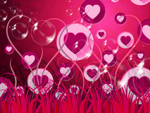 Background Landscape Shows Valentine Day And Affection Royalty Free Stock Image