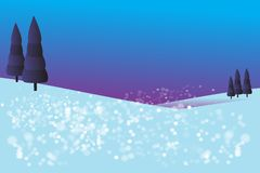 Background landscape with snow royalty free stock photography