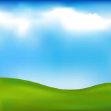Background With Landscape. Vector Stock Photo