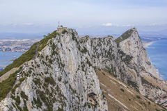 Background landscape view of the Rock of Gibraltar and  nature reserve Stock Photo