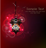 Background with lantern Royalty Free Stock Photo