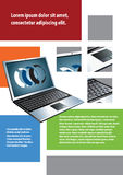 Background laptop Stock Photography