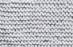 Background large knitted woolen threads of gray Royalty Free Stock Image