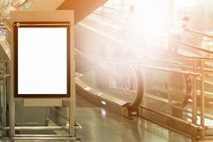 Background large LCD advertisement. Beauty  full blank advertising billboard at airport background large LCD advertisement Stock Photo