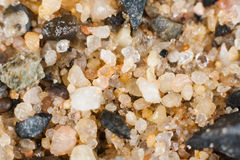 Sand and stone stock image