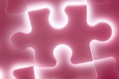 Background of large shining puzzles Stock Images