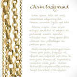 Background from large and small chain Royalty Free Stock Photos