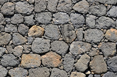Background lava stone wall Stock Images