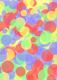 Layers of circles in bright colors Stock Photos