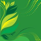 Background with leafs. Natural green background with leafs stock illustration