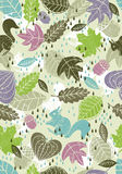 Background of leafs suitable wrapping paper Stock Photo