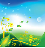 Background leafs vector FLORAL NATURE Royalty Free Stock Images
