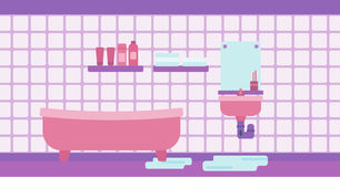 Background Of Leaking Sink In The Bathroom Vector