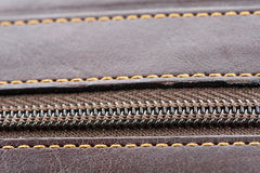 Background from the leather. Background from stitched thread leather close-up Royalty Free Stock Images