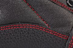 Background of leather stitches detail. Stock Images