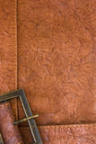 Background with leather texture and frame Stock Photo