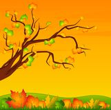 Background with leaves. royalty free illustration