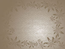 Background with leaves Royalty Free Stock Image