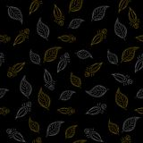 Background, leaves on black Royalty Free Stock Image