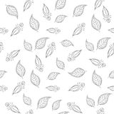 Background with leaves contours Royalty Free Stock Images