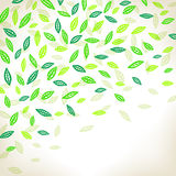 Background with leaves. Background with green leaves. Vector illustration royalty free illustration