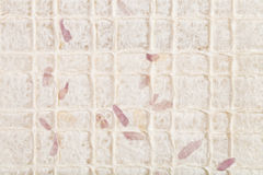 Background with leaves in handmade paper royalty free stock image