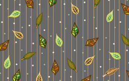 Background in leaves patterns Royalty Free Stock Images